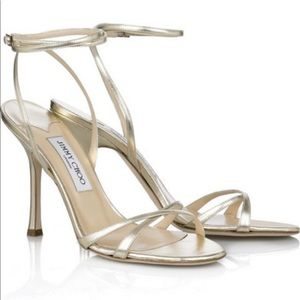 Gold Leather Jimmy Choo Sandals